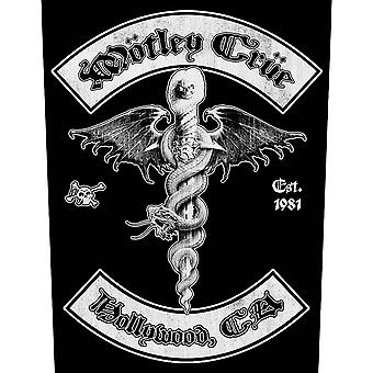 Motley Crue Back Patch Hollywood Band Logo Official Cotton Sew On 36cm x 29cmm