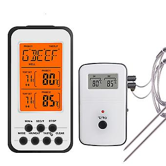 Digital Bbq Thermometer Wireless - Kitchen Oven Food Cooking Grill Smoker, Meat