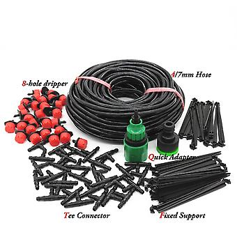 Drip Irrigation System Automatic Watering Garden Hose - Micro Drip Kits With Adjustable Drippers