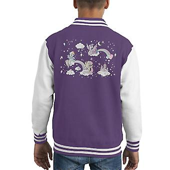 Mi little pony escuadrón en Fluffy Clouds Kid's Chaqueta Varsity