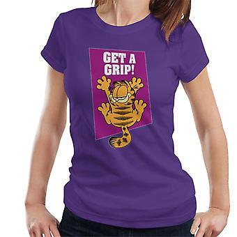 Garfield Get A Grip On The Wall Women's T-Shirt