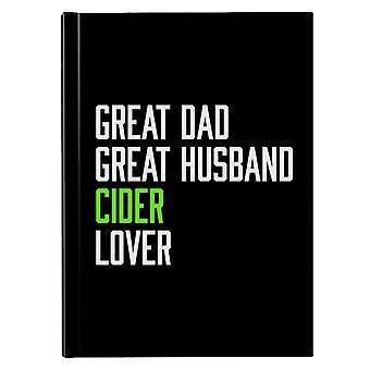 Stor pappa stor mann cider lover hardback journal