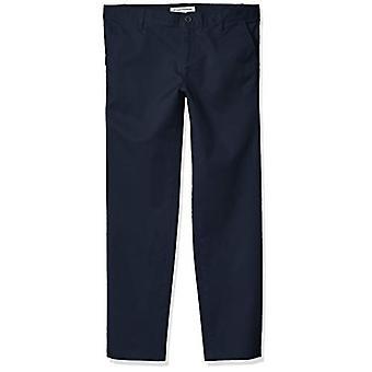 Essentials Girl's Plus Uniform Chino Pants, Navy Blue, 8(P)