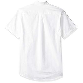أساسيات الرجال & apos;ق العادية تناسب قصيرة الأكمام جيب أكسفورد قميص, أبيض, ...