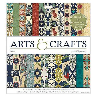 Papermania Arts & Crafts 12x12 Inch Paper Pad