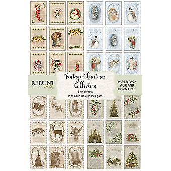 Reprint Vintage Christmas Cutouts A4 Paper Pack