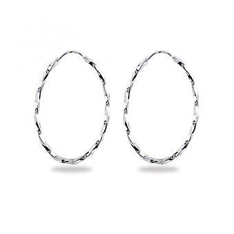 Rhodié sølv ørering