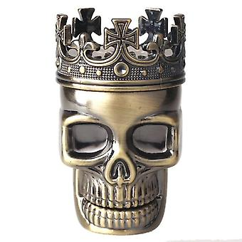 King Skull Manual Mill Smoke Detectors Metal Tobacco Spice Grinder Crusher Pollen Catcher Maquina