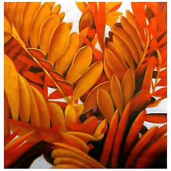 Oil on Canvas - Painting on Hand Painting - Floral Shrubs - Modern Painting Stay