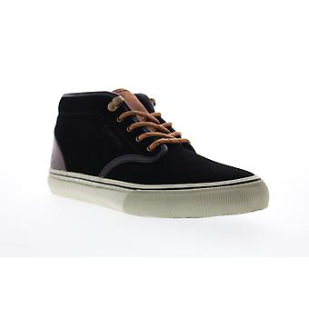 Emerica Wino G6 Mid Mens Black Suede Lace Up Skate Inspired Sneakers Shoes