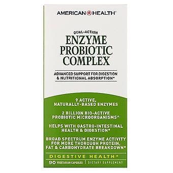 American Health, Complejo de probióticos enzimáticos, 90 gorras vegetarianas
