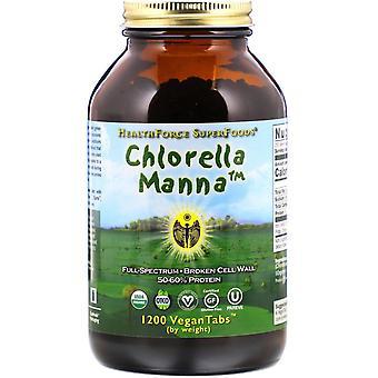 HealthForce Superfoods, Chlorella Manna, 1200 VeganTabs