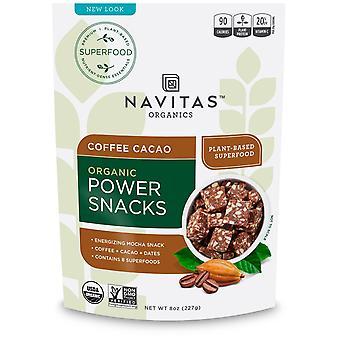 Navitas Organics, Organic Power Snacks, Coffee Cacao, 8 oz (227 g)