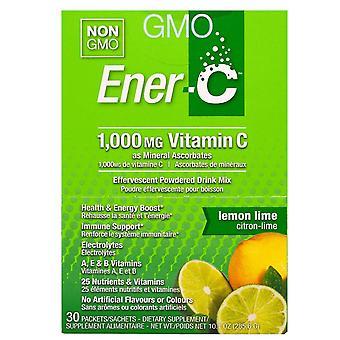Ener-C, Vitamin C, Effervescent Powdered Drink Mix, Lemon Lime, 30 Packets, 10.1