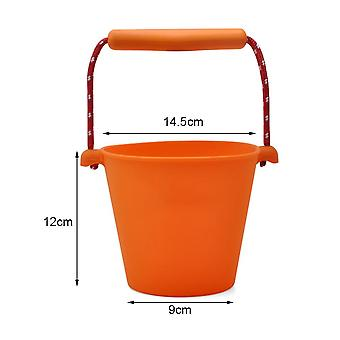 1.5l Beach Bucket Silicone  Folding Hand-held Barrel Shower Bath Sand Dabbling Pour Water - Summer Play Sand Toy For Children