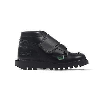 Kickers Kick Kilo Strap Infant Toddler Boys School Shoe Boot Black