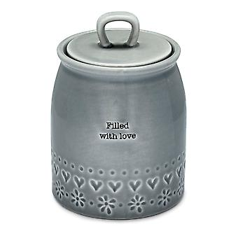 Cooksmart Purity Canister, Filled with Love