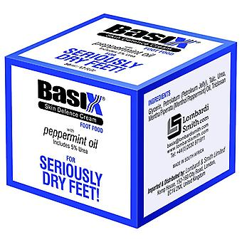 Basix Skin Defence Foot Food Foot Repair And Restoration Cream For Dry Feet And Cracked Heels With 5% Urea And Peppermint Oil