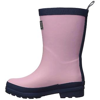 Hatley Kids' Toddler Classic Rain Boots, Pink & Navy, 6 US Child