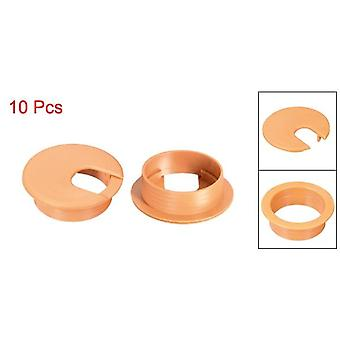 "High Quality 10 Pcs Cable Hole Cover, 1-3/8""/2"" Plastic Desk Grommet For Wire"