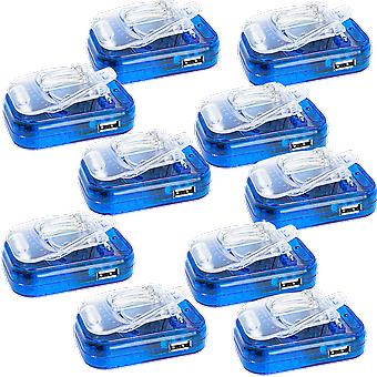 10 Pack Travel Universal Battery Charger for 2.8V~4.2V w/ USB Port 200~3000mAh