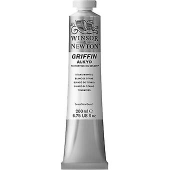Winsor & Newton Griffin Alkyd Fast Drying Oil Paint 200ml (Titanium White)