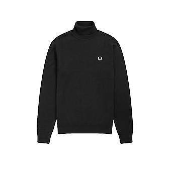 Pull Fred Perry Roll Neck Jumper Schwarz