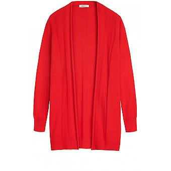 Sandwich Clothing Red Fine Knit Cardigan