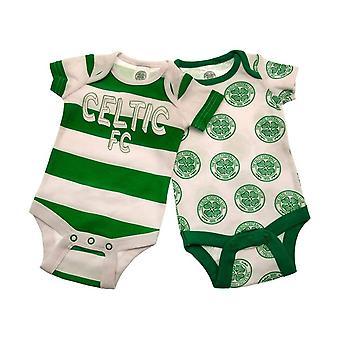Celtic FC Baby Babysuit (Pack of 2)
