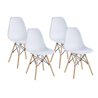 Cadeira Matera, branco, conjunto de 4 Saska Garden