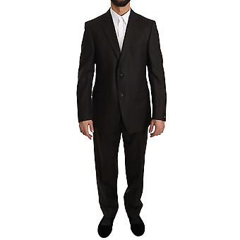 Z ZEGNA Brown Solid Two Piece 2 Button Wool Comfort Suit