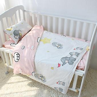 Bomuld Krybbe Sengelinned Kit Til, Cartoon Baby Bedding Set