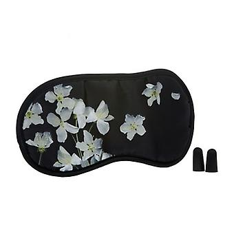 Midnight Breeze Floral Satin Eye Mask & Ear Plug Set