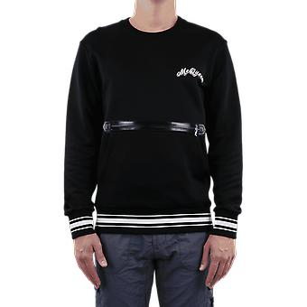Alexander McQueen Semnătura Logo Fermoar Negru 595581QOZ830901 Top