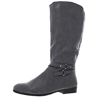 Style & Co. Womens Kindell Faux Leather Wide Calf Knee-High Boots