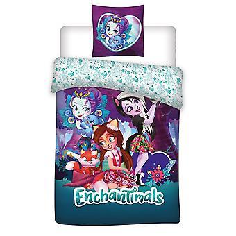 Enchantimals Duvet Cover Set Bed Set Reversible 140x200+63x63cm