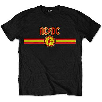 AC/DC-logo og stribe power up officielle Tee T-shirt Unisex