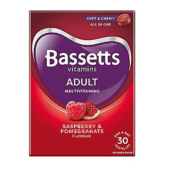 1 x 30 Pastilles Bassetts Raspberry Pomegranate Chewable Multivitamins Adults