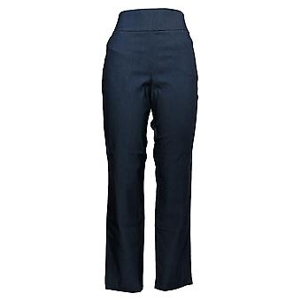 Yummie Women's Pants Blue Pull-on Elastic Waistband Polyester 635-539