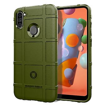 ل Galaxy A11 التغطية الكاملة للصدمات حالة TPU (الجيش الأخضر)