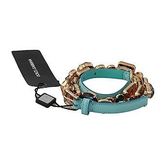 Dolce & Gabbana Sininen Nahka Monivärikiteet Vyötärövyö