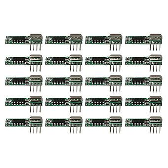 DC3-5.5V RXB12 Wireless High Frequency Receiver Module 433MHz Set di 20