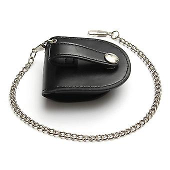 Fashion Coin Pouch Bag With Chain, Pu Leather Cover Pocketed Purse Watch Box