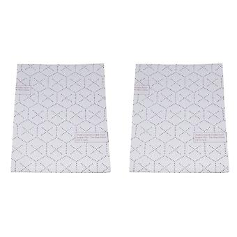 Universal Cut To Size Cooker Hood Filters With Indicator - 2 Pack