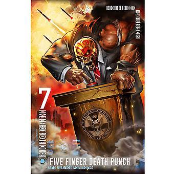 Five Finger Death Punch Textile Poster Justice For None Official 70cm x 106cm