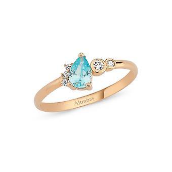 Gekleurde SteenGouden Ring