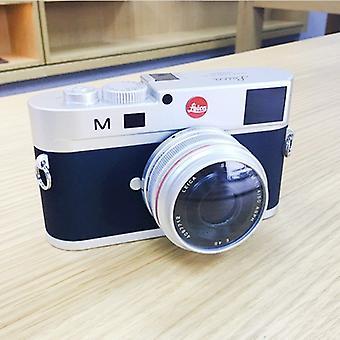 Ei-toimiva fake dummy DSLR kamera malli valokuvastudio rekvisiitta Leica M, lyhyt linssi (hopea)