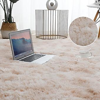 Plush Carpet For Living Room Thick Fluffy Rug Bed Floor Soft Grey Tie Dyeing