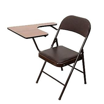 Portable Folding Office Meeting Conference Chair With Writing Board