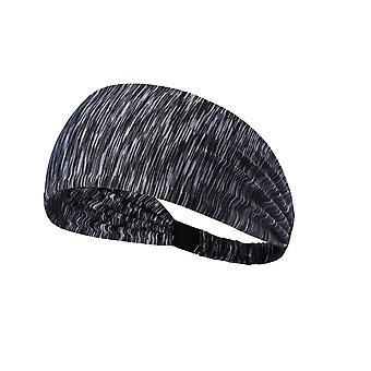 1 Pc Svett-absorberande andas Sport Pannband för kvinnor Flickor (Randig Gray)